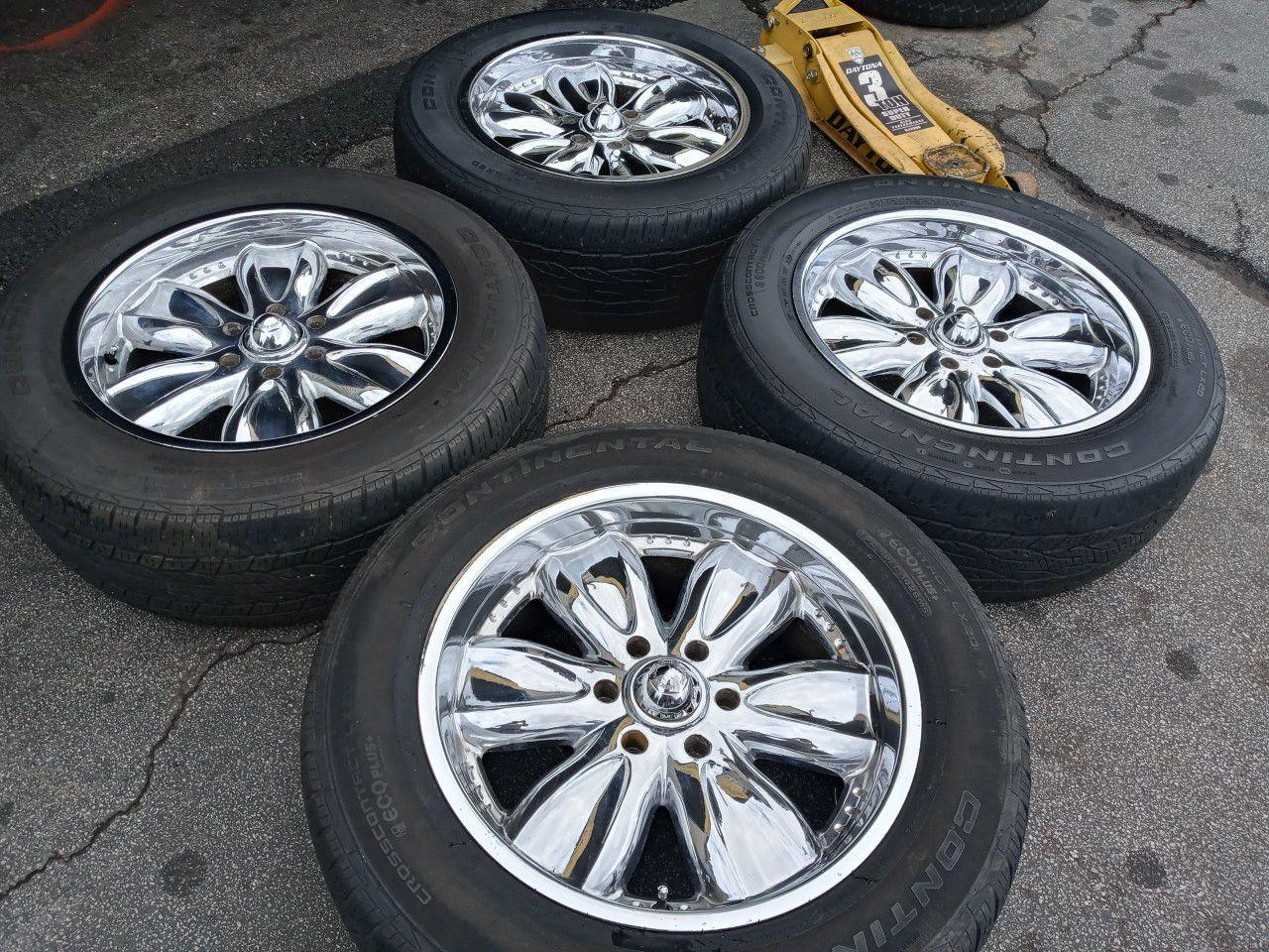 4 wheels end tires Chevrolet Silverado suburban Nissan Taitan 6 lug rin 20