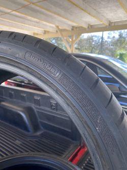 275-35-ZR20 2tires Goodyear F1 Asimetric Run Flat 70% Life Not Repairs Fresh Thumbnail