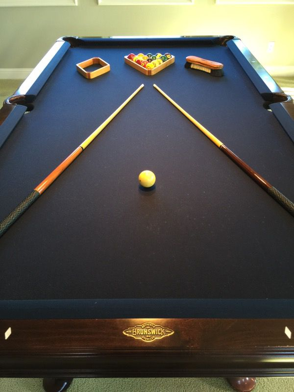 Ft Brunswick Bradford II Pool Table And Rack In Cherry For Sale In - Brunswick bradford pool table