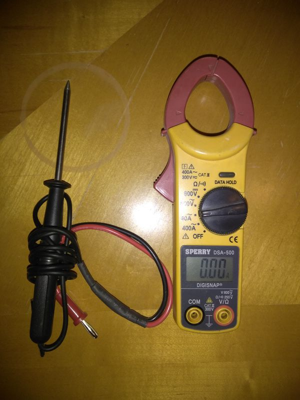 Sperry instruments snap-around clamp meter (model dsa-500.