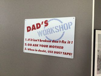 Dad's Workshop Colorful Lightweight Tin Wall Decor Thumbnail