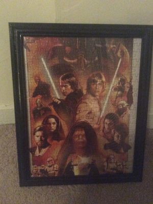 star wars framed puzzle art for sale in orlando fl offerup