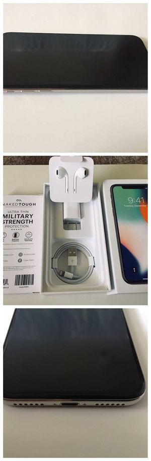 BRAND NEW iPhone X 10 Apple -256GB - Silver Unlocked for Sale in Frederick, MD