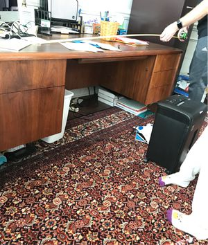 Photo 3'x6' desk with drawers and filing drawer
