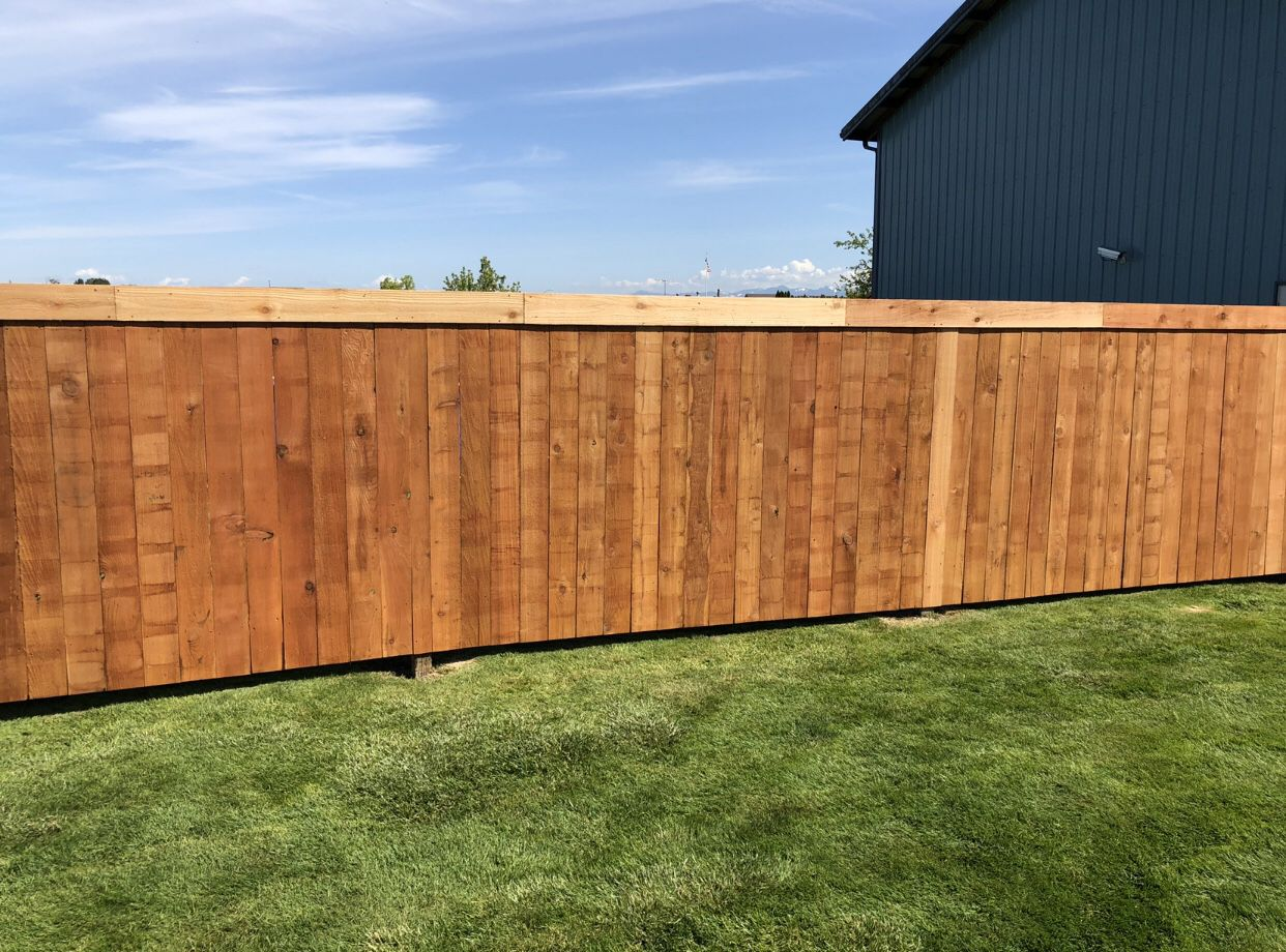 Simple cedar fences 18+$ per foot. Labor + material