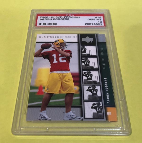 Aaron Rodgers Rookie Card Psa Graded Mint Condition For