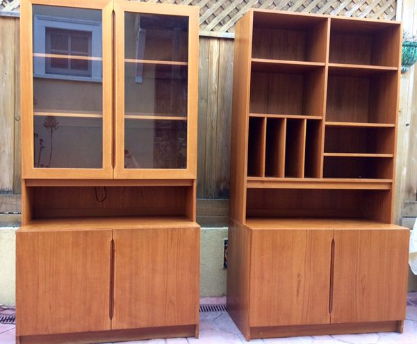 Danish Credenza Los Angeles : Two danish modern teak shelving units from danica house for sale