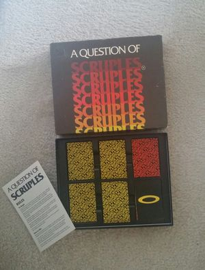 """Vintage """"A Question Of Scruples""""/Adult Bluffing Party Game for Sale in Gaithersburg, MD"""