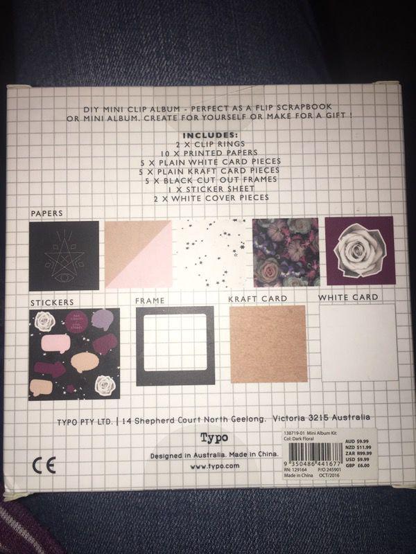 Diy mini clip album from typo for sale in whittier ca offerup solutioingenieria Gallery