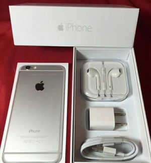 IPhone6 Plus Factory Unlocked + box and accessories + 30 day warranty for Sale in Washington, DC