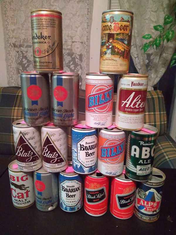 18 Empty beer cans 12 oz collectibles for Sale in Springfield, OH - OfferUp