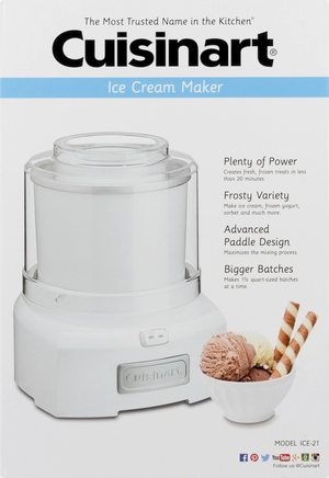 Brand New Cuisinart ICE-21 1.5 Quart Frozen Yogurt-Ice Cream Maker (White) for Sale in Seattle, WA