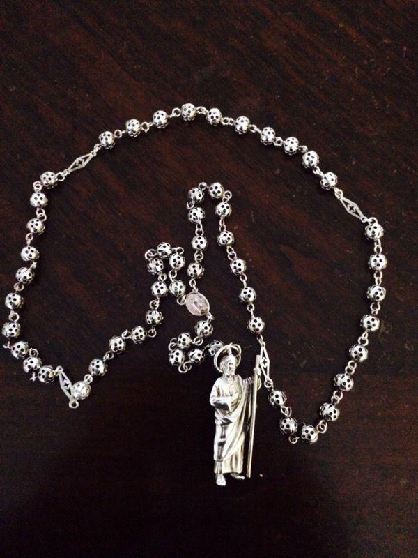 Rosario De Plata Con Imagen De San Judas For Sale In Foster City Ca Offerup