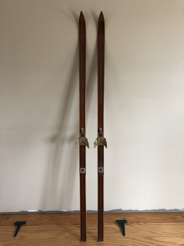 Old Bonna Model 2000 Wood Cross Country Skis For Sale In Coventry