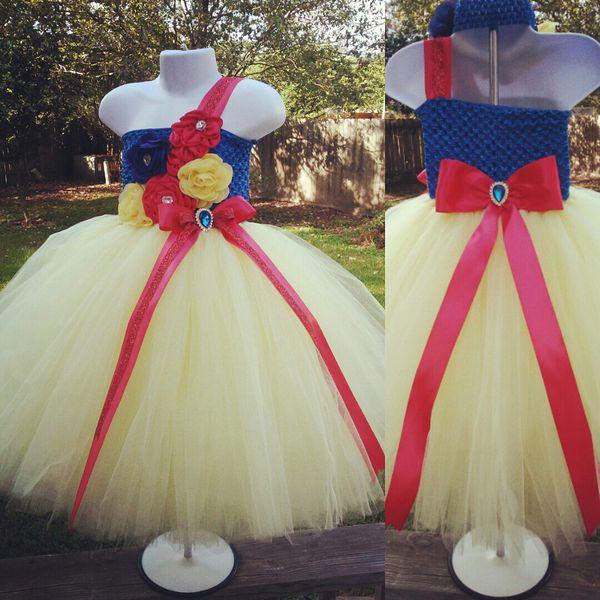 a8de86c199b Snow white tutu set girls birthday tutu outfit flower girl tutu dress jr  bride damas tutu dress
