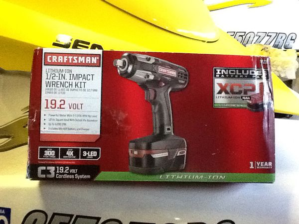 Craftsman C3 ½ Heavy Duty Impact Wrench Kit Ed By 4ah Xcp Cordless Tools High Torque