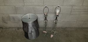 Pair of Designer glass lamps for Sale in San Francisco, CA
