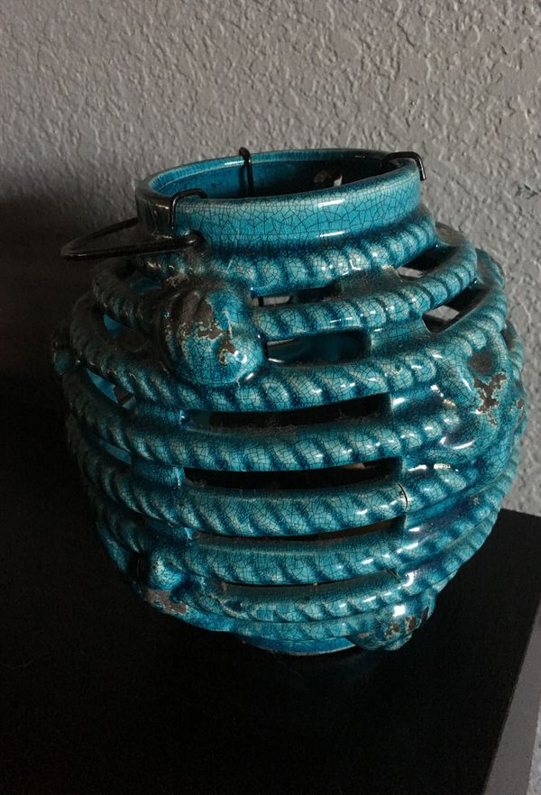 Light blue tea light holder for Sale in Spanaway, WA - OfferUp