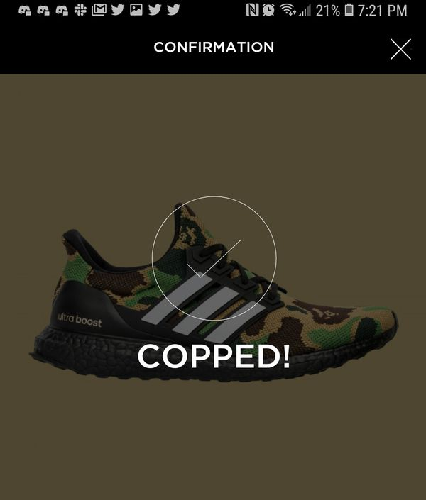dfbbf6656 Adidas Bape Ultra boost bathing ape size 13 new confirmed order for  tomorrow. Rowland Heights ...