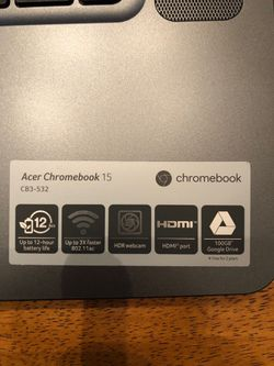 Acer 15 inch Chromebook 2017 Thumbnail