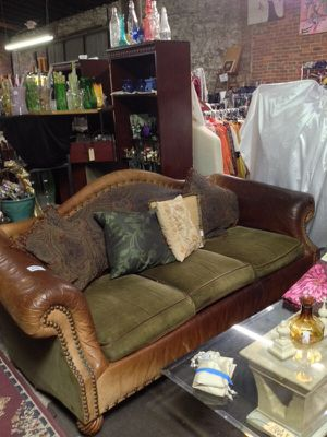Leather/Fabric Couch for Sale in Covington, GA