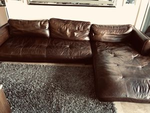 Leather sectional sofa - DeCoro for Sale in Miami Beach, FL