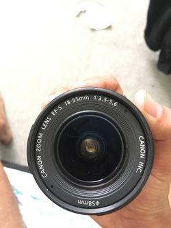Canon EFS 18-55mm camera lens Thumbnail