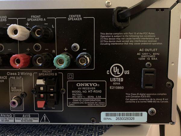 Onkyo Tx Sr501 No Sound on