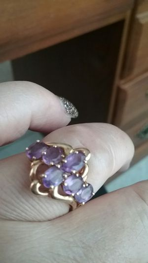 Purple ring 10 kt yellow gold for Sale in Clermont, FL
