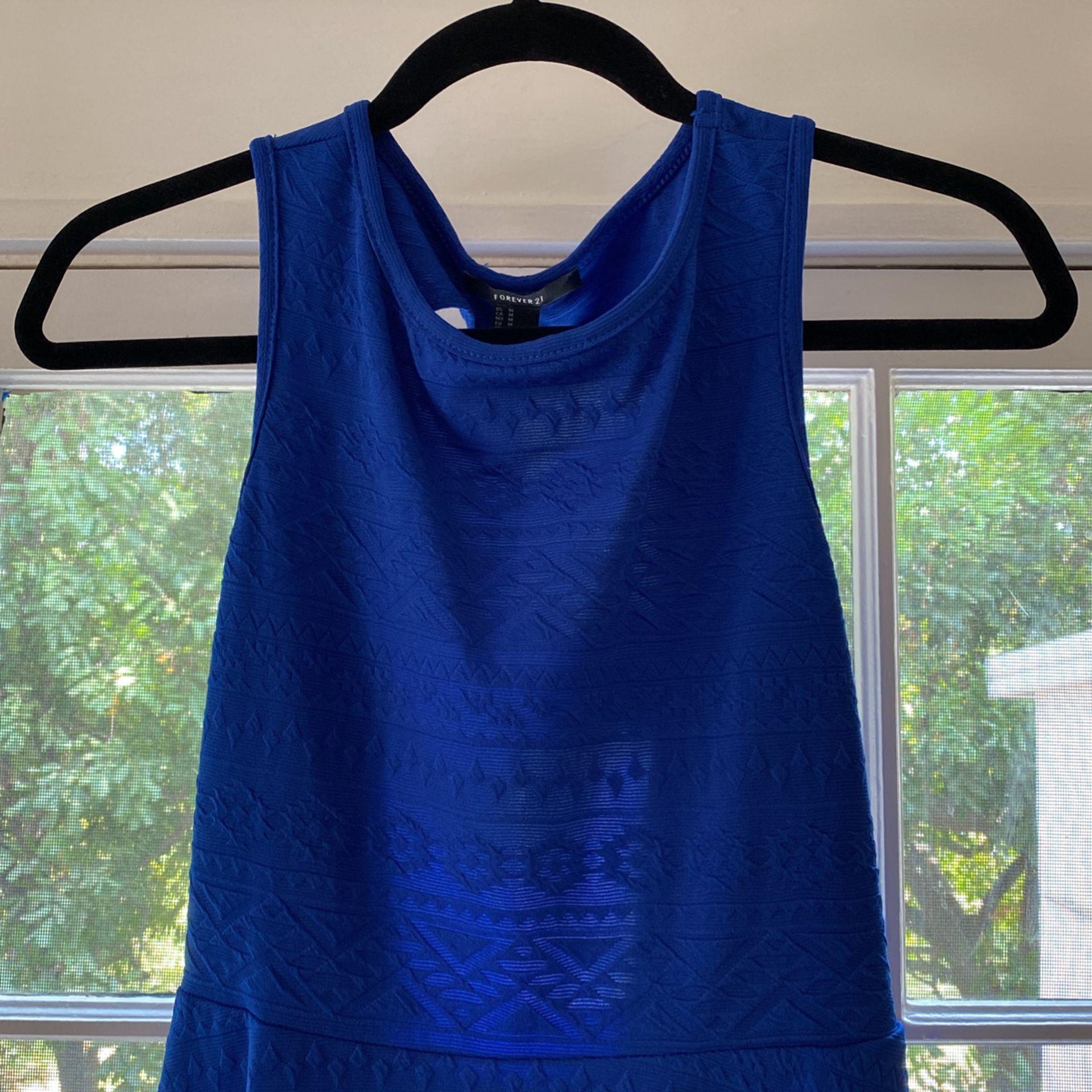 Royal Blue Forever 21 Open Back Dress Size M