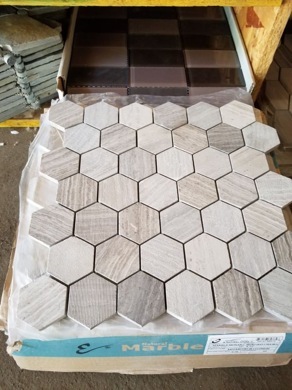 13sf Of Marble Hexagon Mosaic Tile Flooring For Sale In Portland Or