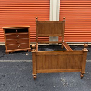 Twin Bed Frame and Dresser for Sale in Lake Ridge, VA