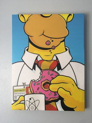 Homer Simpson Canvas Wrap wall decor for Sale in Riverbank, CA
