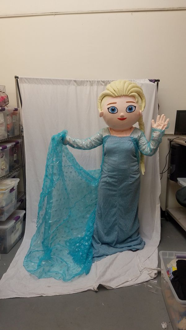 FROZEN ELSA ADULT MASCOT COSTUME FOR BIRTHDAY PARTIES Los Angeles