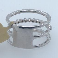 14kt 3-band Diamond Ring Thumbnail