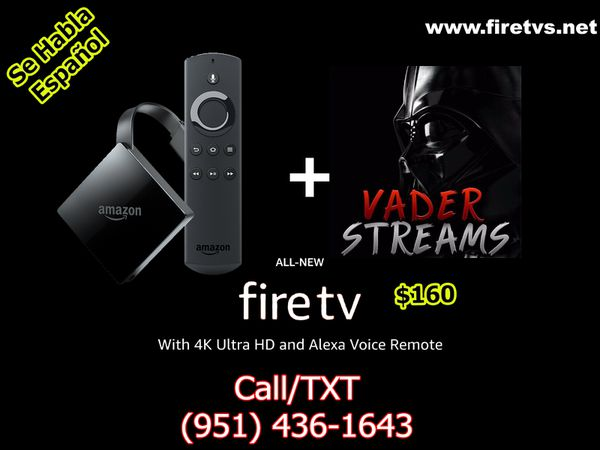 Amazon Fire TV with Vaderstream for Sale in Riverside, CA - OfferUp