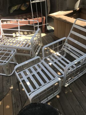 Refurbished retro patio furniture with cushions for Sale in Leesburg, VA