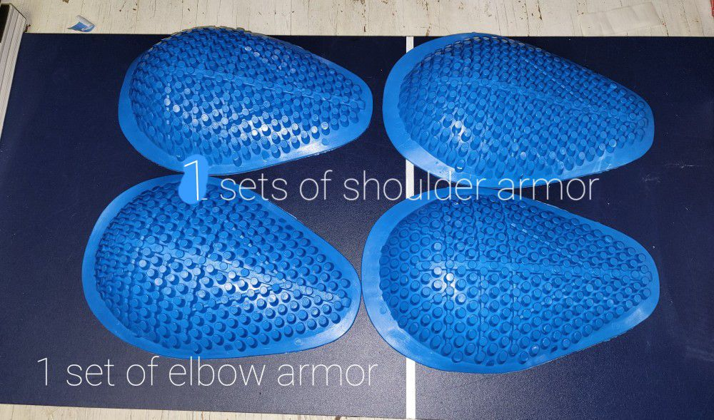 Shoulder And Elbow Armor For Motorcycle Jackets