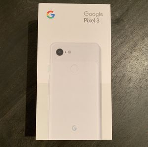 Brand New Google Pixel 3, Unlocked, 64GB, white for Sale in San Francisco, CA