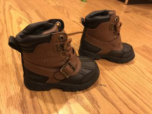 Toddler Ralph Lauren polo boots for Sale in Walkersville, MD