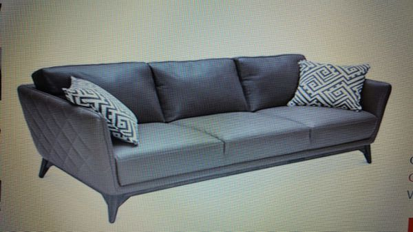 Brand New Never Used Kortney Quilted Side Leather Sofa For Sale In