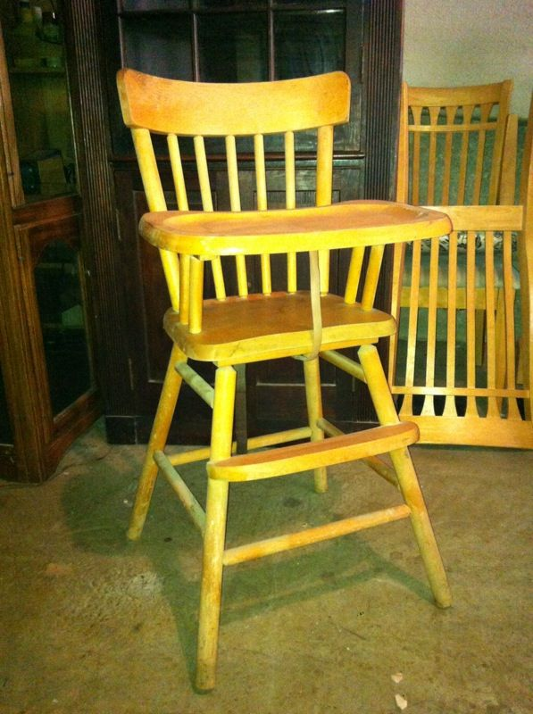 Vintage Oak Hill Wooden Highchair Baby Feeding High Chair Made In