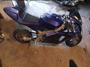 Photo X1 Pocket bike with a 49cc Engine Ready to ride. Pocketbike mini bike minibike go-kart go kart go cart gocart.$300