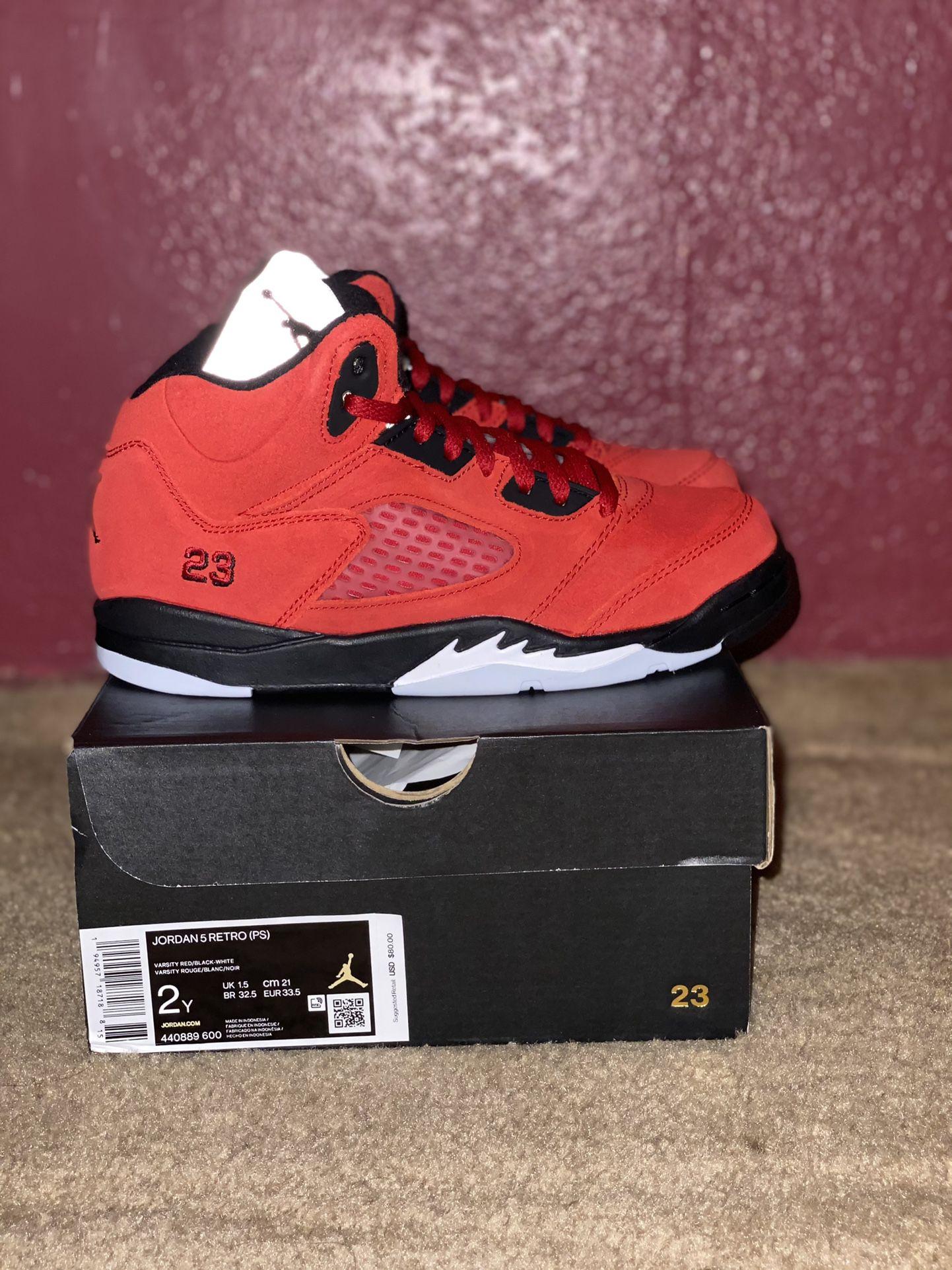 Jordan 5 Retro ( Raging Bulls ) Size:2y