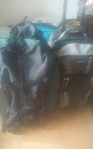 Hiking bag and rolling bookbag(large size) for Sale in Alexandria, VA