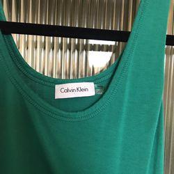 Calvin Klein Green Dress Size 2 Thumbnail