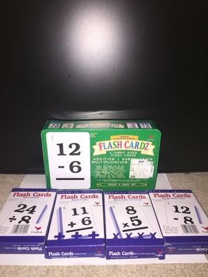 Fast Fact Flash cards /addition /subtraction /Multiplication/division for Sale in Katy, TX