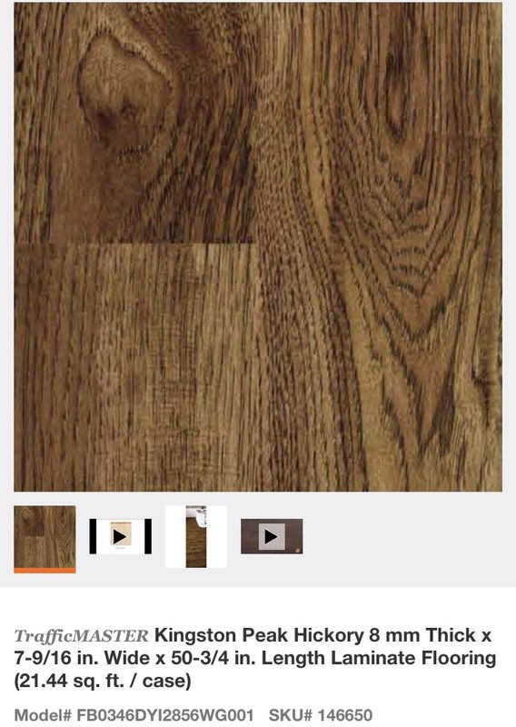 Kingston Peak Hickory Glueless Laminate Flooring For In Glendale Az Offerup