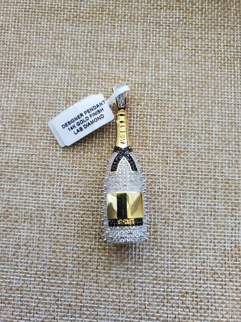 Plated pendant stainless steel chain included $75