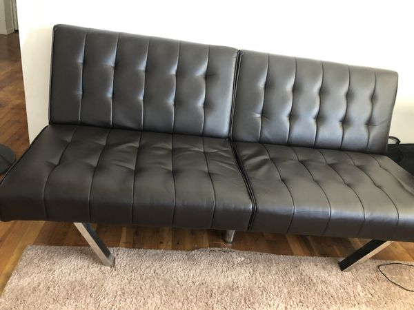 Mainstays Morgan Faux Leather Tufted Convertible Futon Furniture In Woodbridge Township Nj Offerup